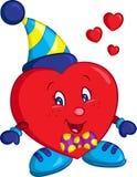 L'illustration de couleur d'un petit garçon-coeur rouge, admirablement colorée, se perfectionnent pour le livre d'enfants ou la c illustration stock