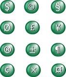 L'illustration de la devise et de d'autres signe. Photographie stock