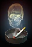 L'illustration de la fum?e form?e par cr?ne sort de la cigarette illustration de vecteur