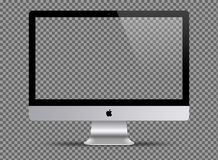 L'illustration de l'ordinateur d'Apple iMac a isolé illustration stock