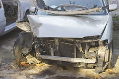 l'illustration de véhicule des accidents 3d a isolé le blanc rendu Images libres de droits