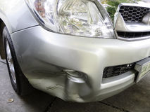 l'illustration de véhicule des accidents 3d a isolé le blanc rendu Photo stock