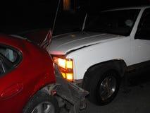 l'illustration de véhicule des accidents 3d a isolé le blanc rendu Photos libres de droits