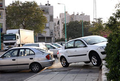 l'illustration de véhicule des accidents 3d a isolé le blanc rendu Photographie stock