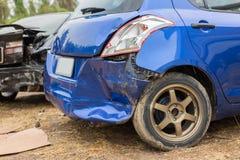 l'illustration de véhicule des accidents 3d a isolé le blanc rendu Photographie stock libre de droits