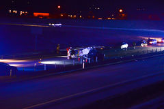 l'illustration de véhicule des accidents 3d a isolé le blanc rendu Photos stock
