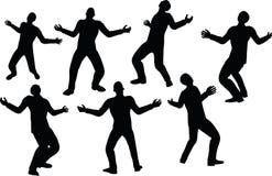 L'illustration de vecteur d'ENV 10 en silhouette d'homme d'affaires transforment Image libre de droits