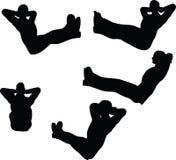 L'illustration de vecteur d'ENV 10 en silhouette des pieds de chaise de bureau d'homme d'affaires s'étendent  Image libre de droits