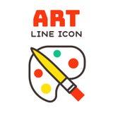 L'illustration de vecteur de boîte de peinture et le passe-temps pour aquarelle multicolores d'école d'éducation de récipient de  Photos libres de droits