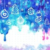 L'illustration de vecteur de Noël d'aquarelle peut être Photo libre de droits