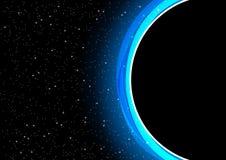 L'illustration de vecteur de plan rapproché de blackhole Image stock