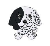 L'illustration de vecteur du chien mignon dans le style plat montre l'émotion triste Emoji pleurant Graphisme souriant Causerie,  illustration libre de droits