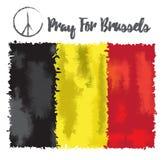 L'illustration de vecteur prient pour la Belgique le 22 mars 2016 Photo libre de droits