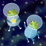 L'illustration des enfants d'un astronaute gai photos stock