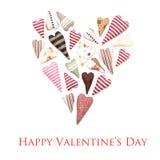 l'illustration s de coeur de vert de dreamstime de conception de jour de carte stylized le vecteur de valentine Images stock