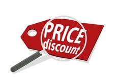 L'illustratore di vettore ingrandice il concetto economico di vendita a ribasso dei prezzi fotografia stock