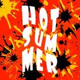 L'illustrazione calda di estate sul fondo di colore Citazione di divertimento Passi l'iscrizione del manifesto con lettere ispira illustrazione vettoriale
