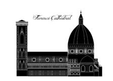 L'illustrazione con bella Florence Cathedral Royalty Illustrazione gratis
