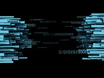 L'illustrazione concettuale 3d del grande trasferimento di dati rende Immagine Stock