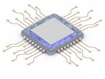 L'illustrazione concettuale del lavoro interno 3d del CPU del mondo rende Fotografia Stock