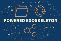 L'illustrazione concettuale di affari con le parole ha alimentato il exoskele illustrazione vettoriale