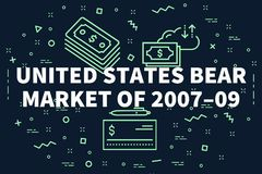L'illustrazione concettuale di affari con le parole Stati Uniti è illustrazione di stock