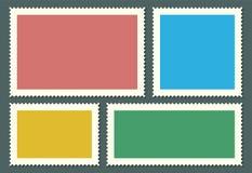 L'illustrazione creativa di vettore dei francobolli in bianco ha messo isolato su fondo Modelli di progettazione di arte con il p Fotografie Stock
