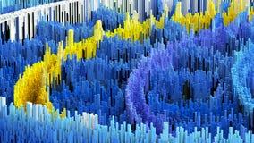 l'illustrazione 3D della macro astratta rende la struttura fatta delle colonne di milioni Fotografia Stock