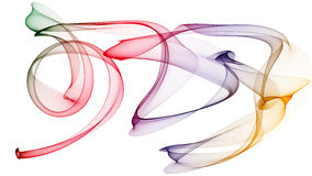 l'illustrazione 3D delle onde colorate assomiglia a fumo Fotografie Stock