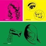 L'illustrazione dei capelli di bellezza ha messo nello stile moderno illustrazione vettoriale