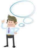 Compagno di affari con la bolla di pensiero Immagine Stock Libera da Diritti