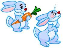 L'illustrazione del fumetto di due conigli Immagine Stock Libera da Diritti