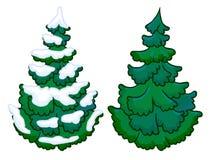 L'illustrazione del fumetto di un albero attillato Fotografie Stock