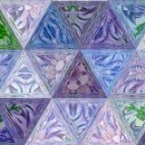 L'illustrazione del mosaico del triangolo assomiglia alla finestra di vetro macchiato o della rappezzatura Immagini Stock Libere da Diritti