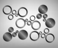 L'illustrazione dell'acciaio differente innesta le icone Immagini Stock