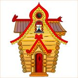 L'illustrazione della casa del fumetto Immagine Stock