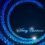 L'illustrazione di festa del Natale di un volo star e scintille brillanti sottragga la priorità bassa Buon Natale Fotografia Stock
