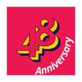 L'illustrazione di numero ha isolato l'anniversario del logo_pink illustrazione di stock