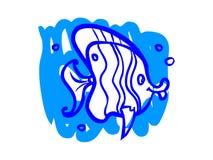 L'illustrazione di un pesce del fumetto Fotografie Stock Libere da Diritti