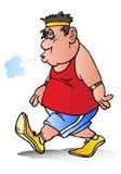 Uomo grasso esaurito Fotografia Stock Libera da Diritti