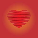 Illustrazione del fondo di origami del cuore Fotografie Stock