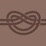 L'illustrazione di vettore del nodo della corda di barca del mare ha isolato il segno naturale dell'attrezzatura del cavo marino  illustrazione di stock