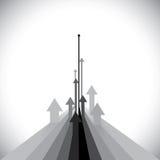 L'illustrazione di vettore delle frecce che mostrano alcuni vincitori ed alcune perdono Immagini Stock