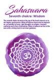 L'illustrazione di vettore di Chakra della corona Immagini Stock