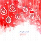 L'illustrazione di vettore di Natale dell'acquerello può essere Fotografie Stock Libere da Diritti