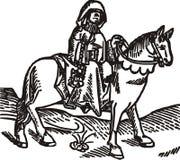 L'illustrazione di vettore isolata intaglio in legno di Prioress Immagini Stock Libere da Diritti