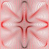 L'illustrazione di vettore di nero e di rosso distorce e struttura del filo di ordito della maglia di deformazione su fondo bianc Immagine Stock Libera da Diritti