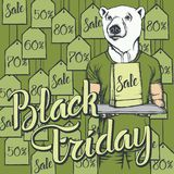 L'illustrazione di vettore di riguarda Black Friday Fotografia Stock Libera da Diritti