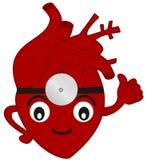 L'illustrazione divertente del fumetto del cuore di medico Fotografia Stock Libera da Diritti