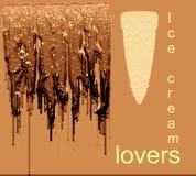 L'illustrazione e l'immagine di sfondo generate da computer del gelato del cioccolato progettano royalty illustrazione gratis